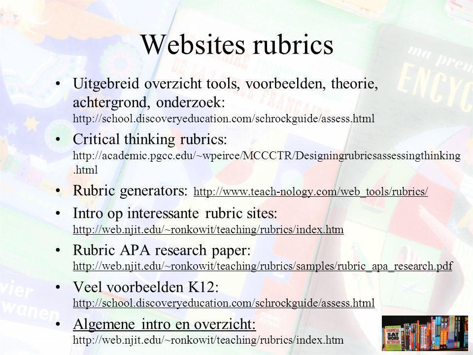 Websites rubrics