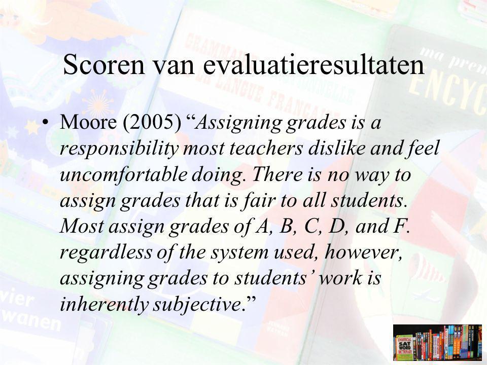 Scoren van evaluatieresultaten