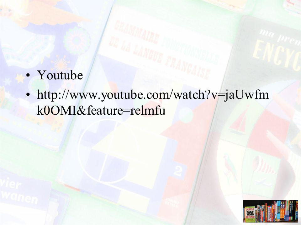 Youtube http://www.youtube.com/watch v=jaUwfmk0OMI&feature=relmfu