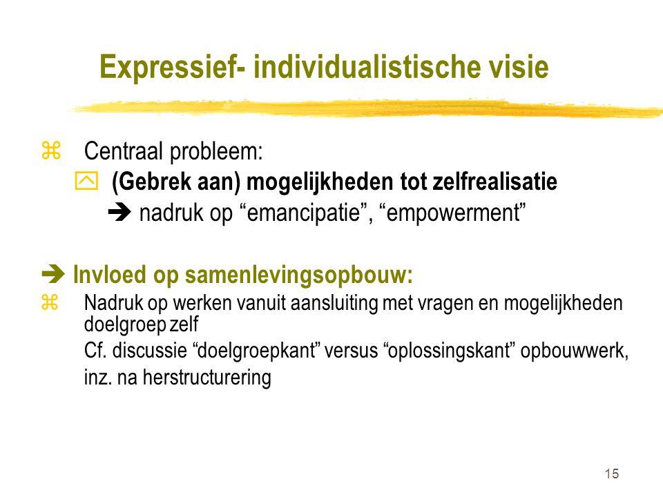 Expressief- individualistische visie