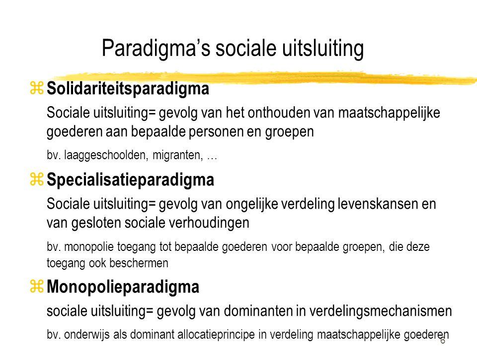 Paradigma's sociale uitsluiting