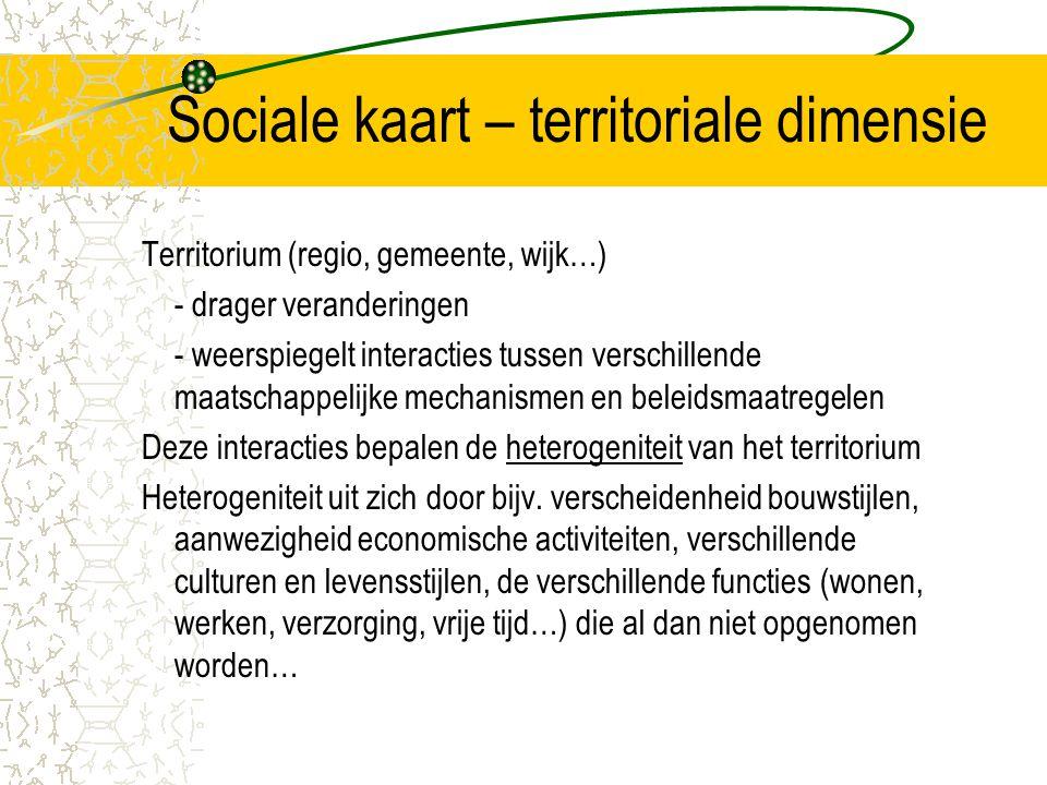 Sociale kaart – territoriale dimensie