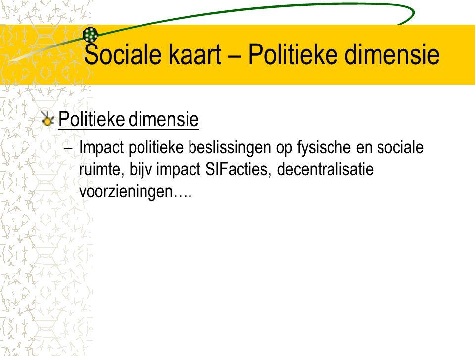 Sociale kaart – Politieke dimensie