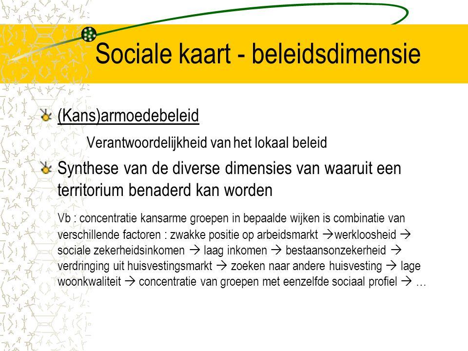 Sociale kaart - beleidsdimensie