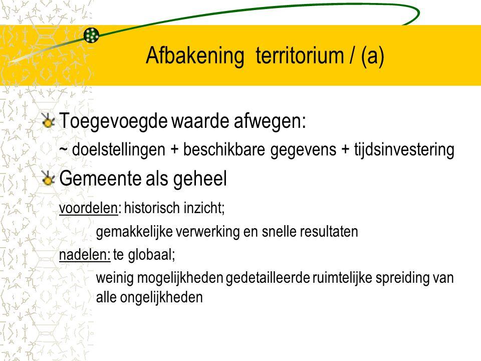 Afbakening territorium / (a)