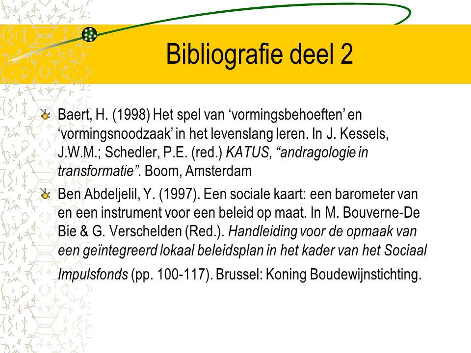 Bibliografie deel 2