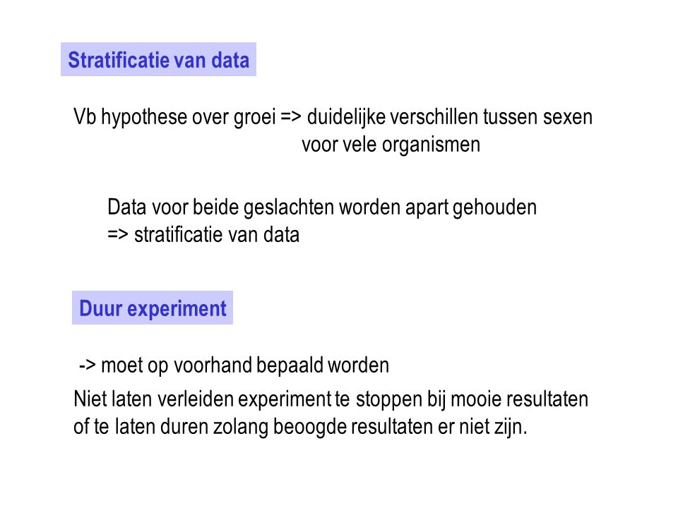 Stratificatie van data