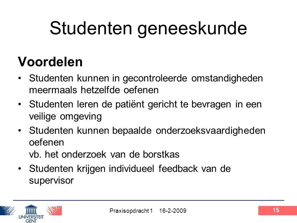 Studenten geneeskunde