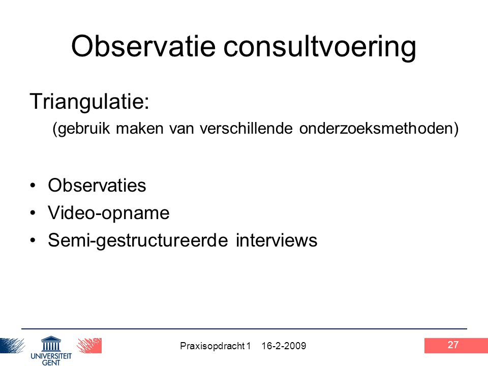 Observatie consultvoering