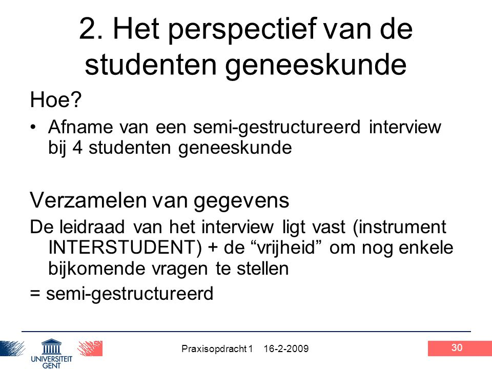 2. Het perspectief van de studenten geneeskunde