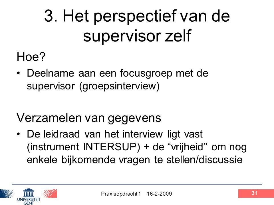 3. Het perspectief van de supervisor zelf