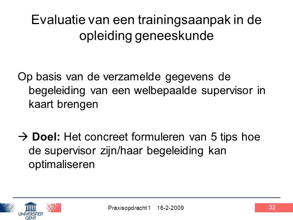 Evaluatie van een trainingsaanpak in de opleiding geneeskunde
