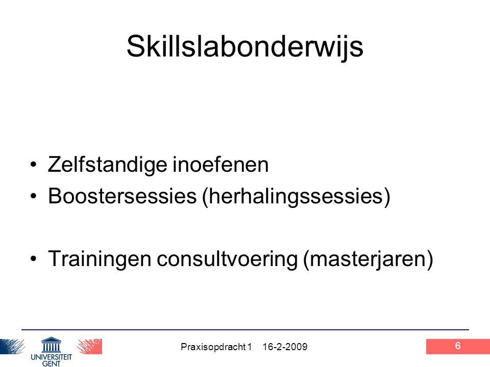 Skillslabonderwijs Zelfstandige inoefenen