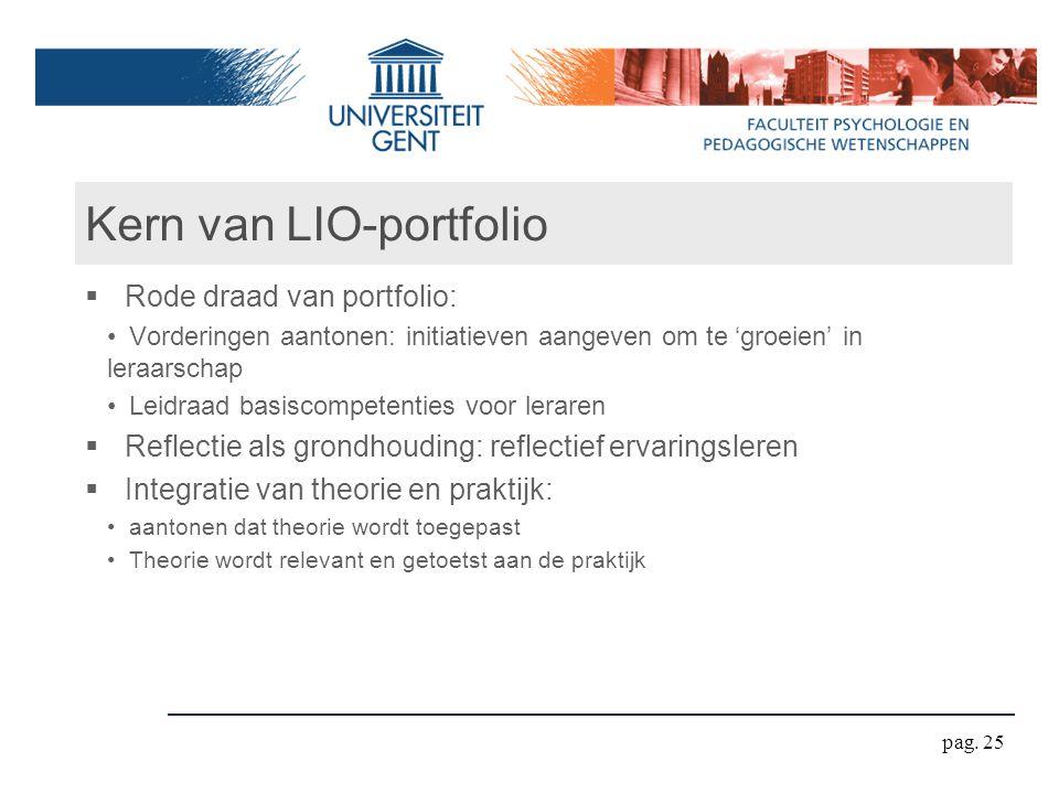 Kern van LIO-portfolio