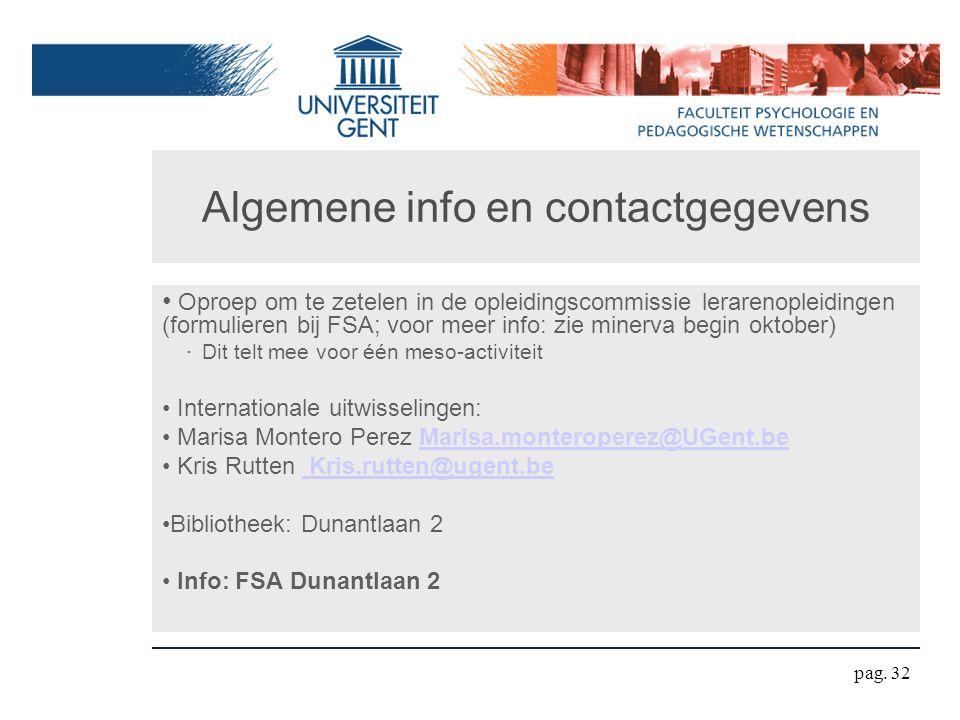 Algemene info en contactgegevens