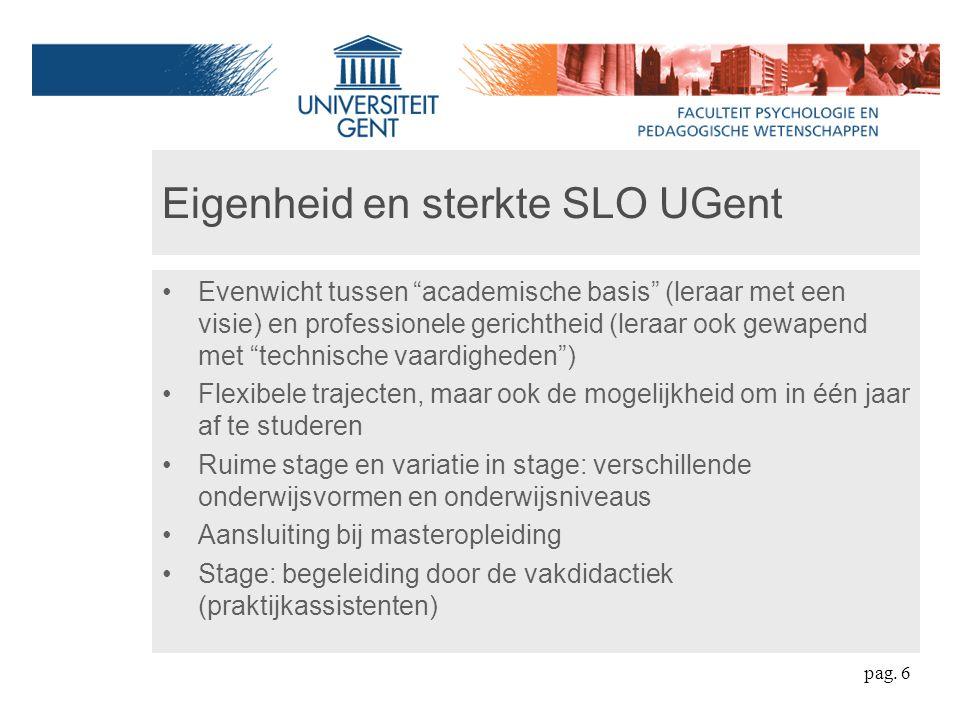 Eigenheid en sterkte SLO UGent