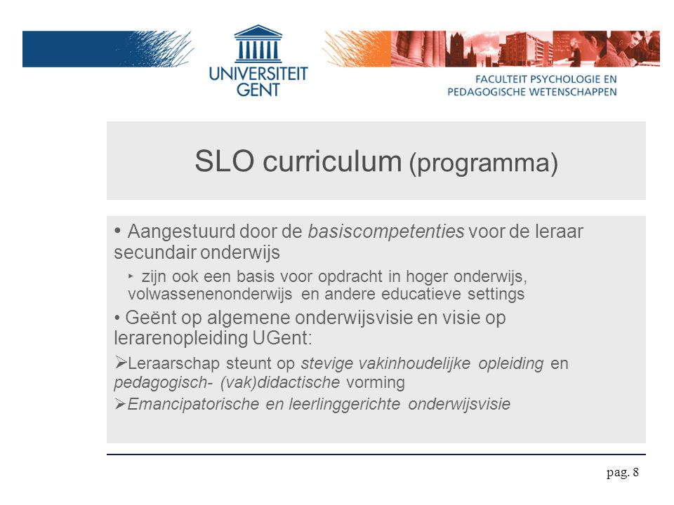 SLO curriculum (programma)