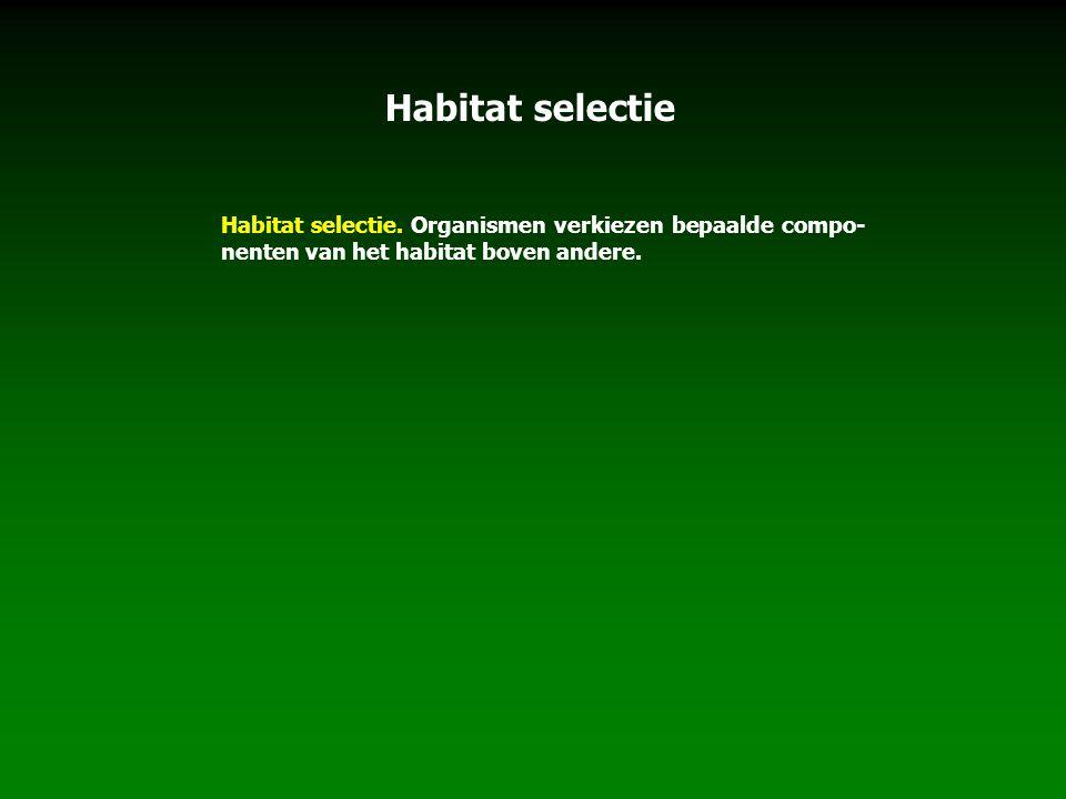 Habitat selectie Habitat selectie.