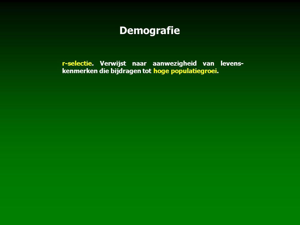 Demografie r-selectie.
