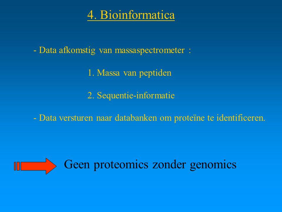 Geen proteomics zonder genomics
