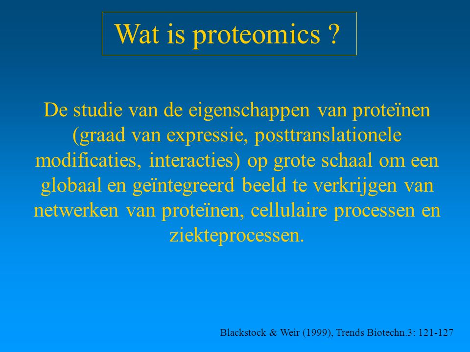 Wat is proteomics