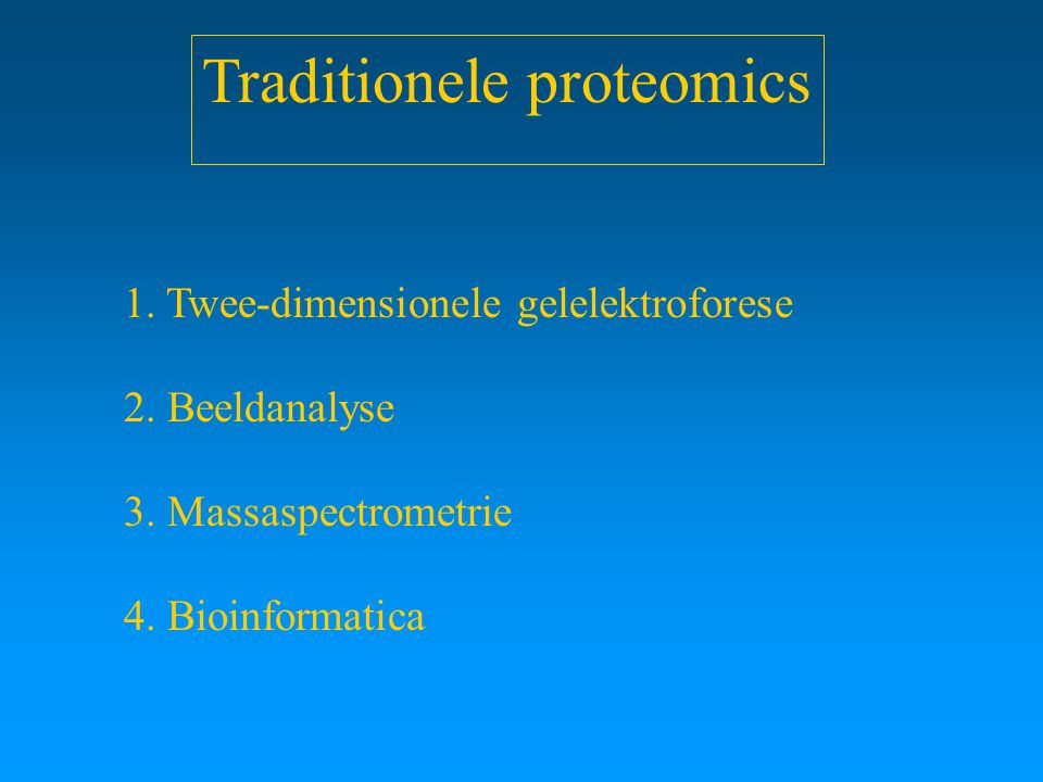 Traditionele proteomics