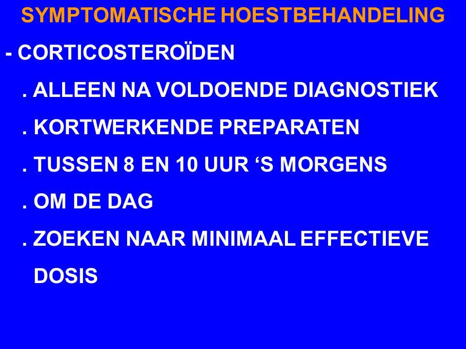 SYMPTOMATISCHE HOESTBEHANDELING