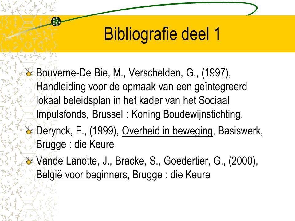 Bibliografie deel 1