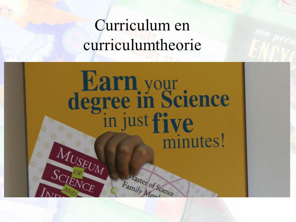 Curriculum en curriculumtheorie