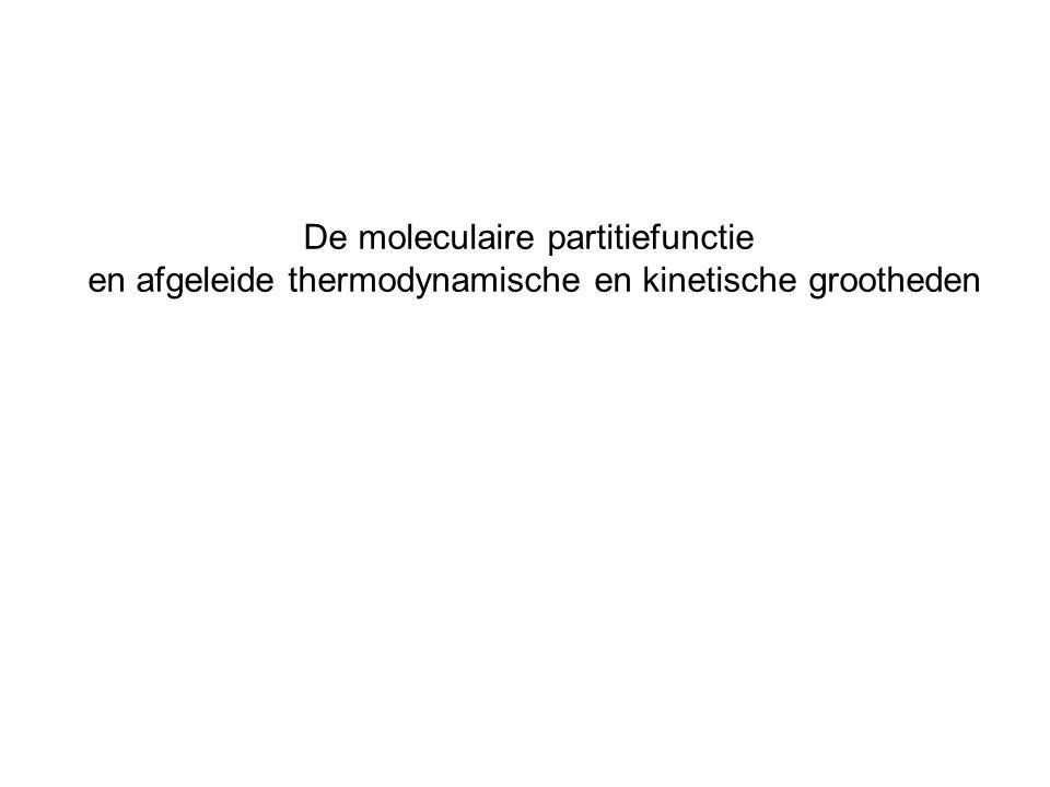 De moleculaire partitiefunctie