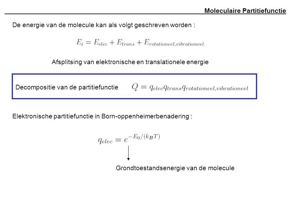 Moleculaire Partitiefunctie