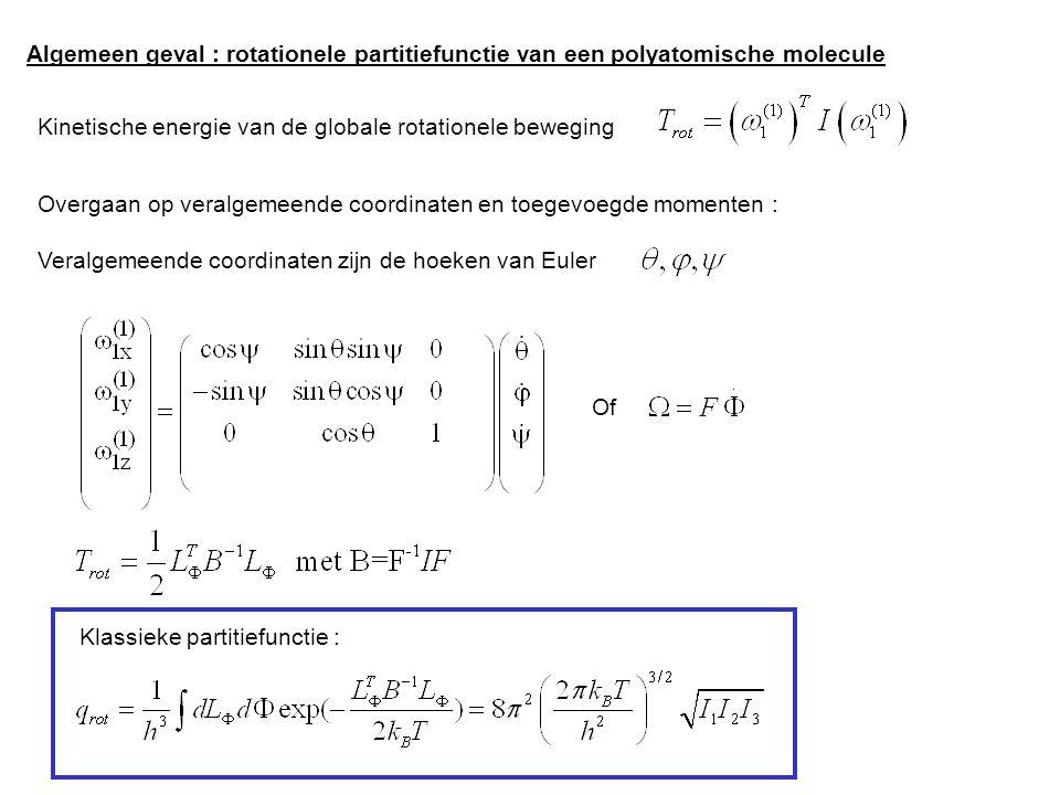 Algemeen geval : rotationele partitiefunctie van een polyatomische molecule