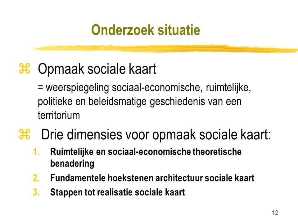 Drie dimensies voor opmaak sociale kaart:
