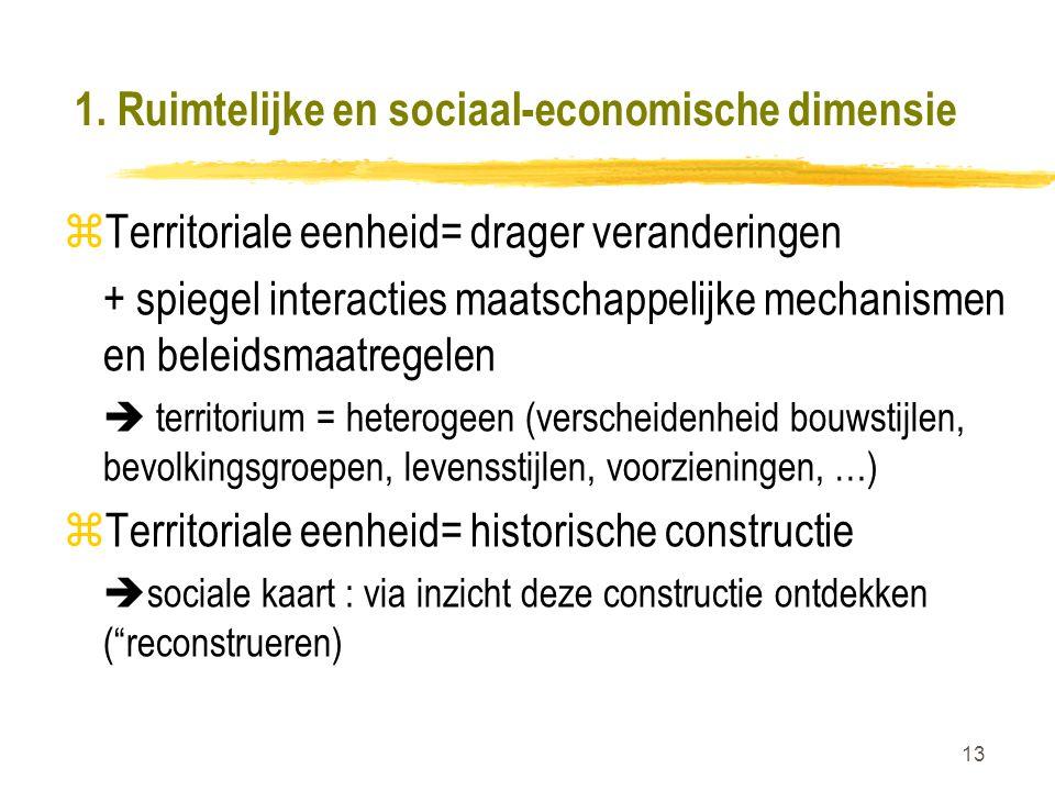 1. Ruimtelijke en sociaal-economische dimensie