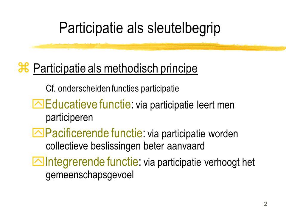 Participatie als sleutelbegrip