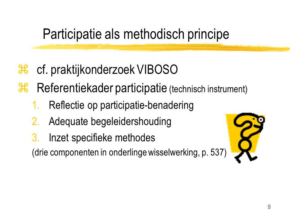 Participatie als methodisch principe