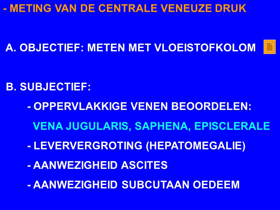 - METING VAN DE CENTRALE VENEUZE DRUK