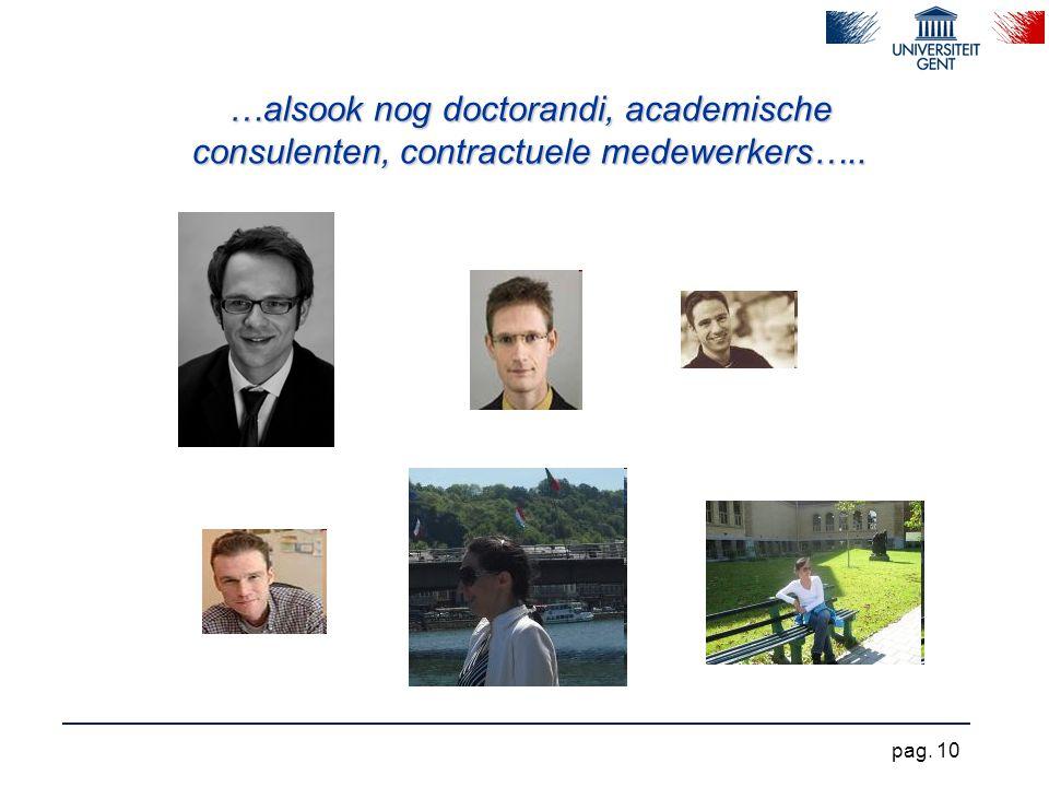 …alsook nog doctorandi, academische consulenten, contractuele medewerkers…..