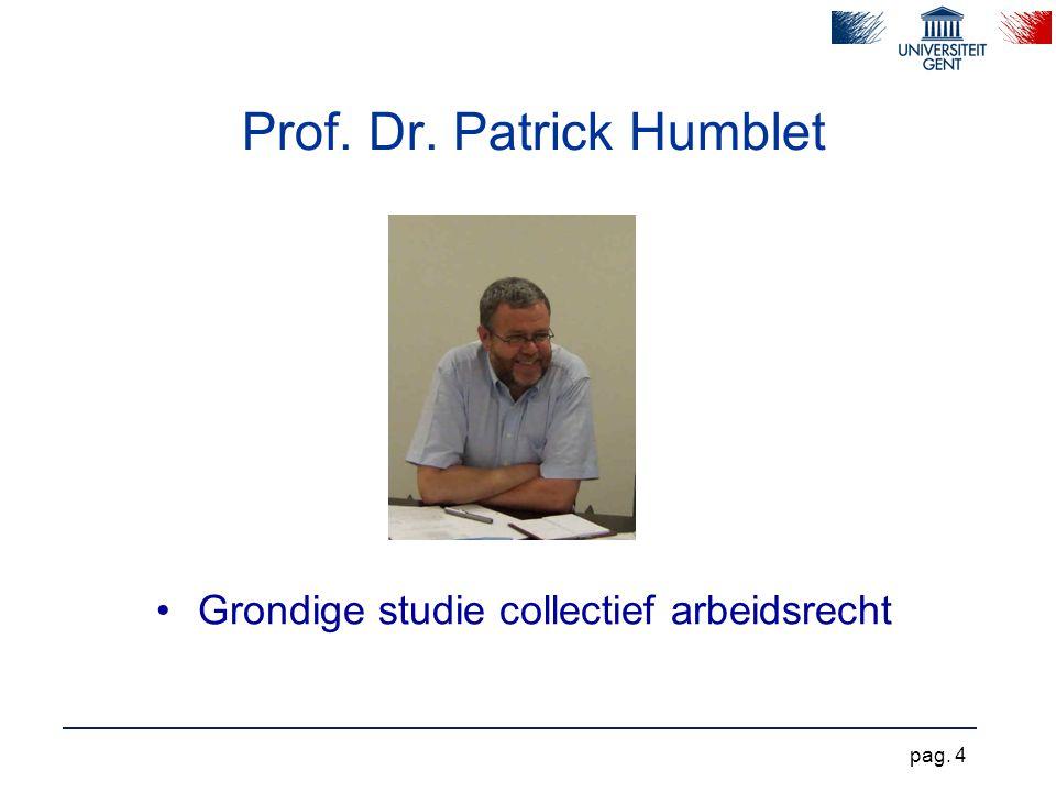 Prof. Dr. Patrick Humblet