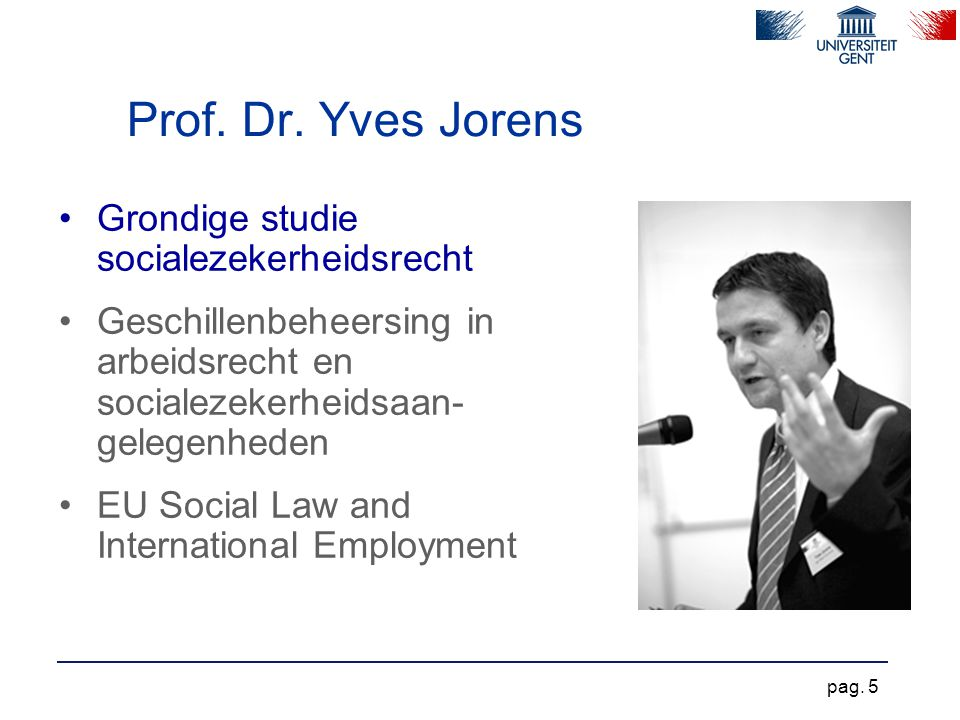 Prof. Dr. Yves Jorens Grondige studie socialezekerheidsrecht