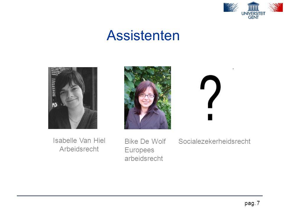 Assistenten Isabelle Van Hiel Arbeidsrecht Bike De Wolf