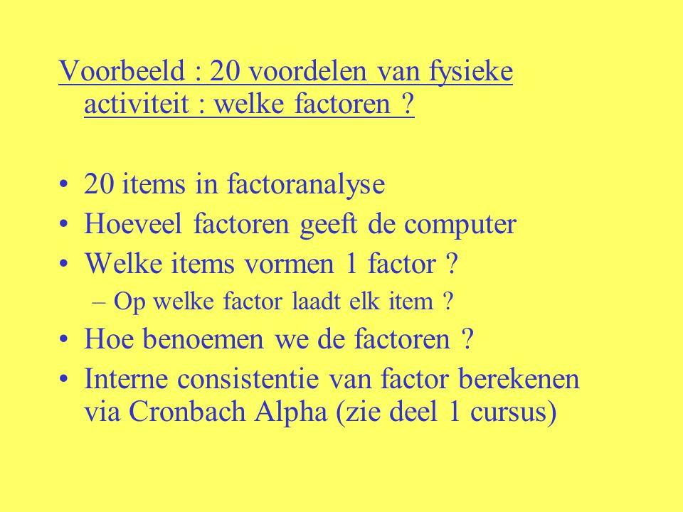 Voorbeeld : 20 voordelen van fysieke activiteit : welke factoren
