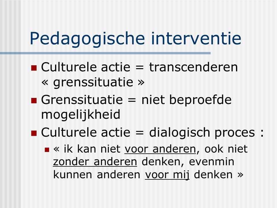 Pedagogische interventie