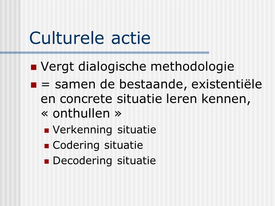 Culturele actie Vergt dialogische methodologie
