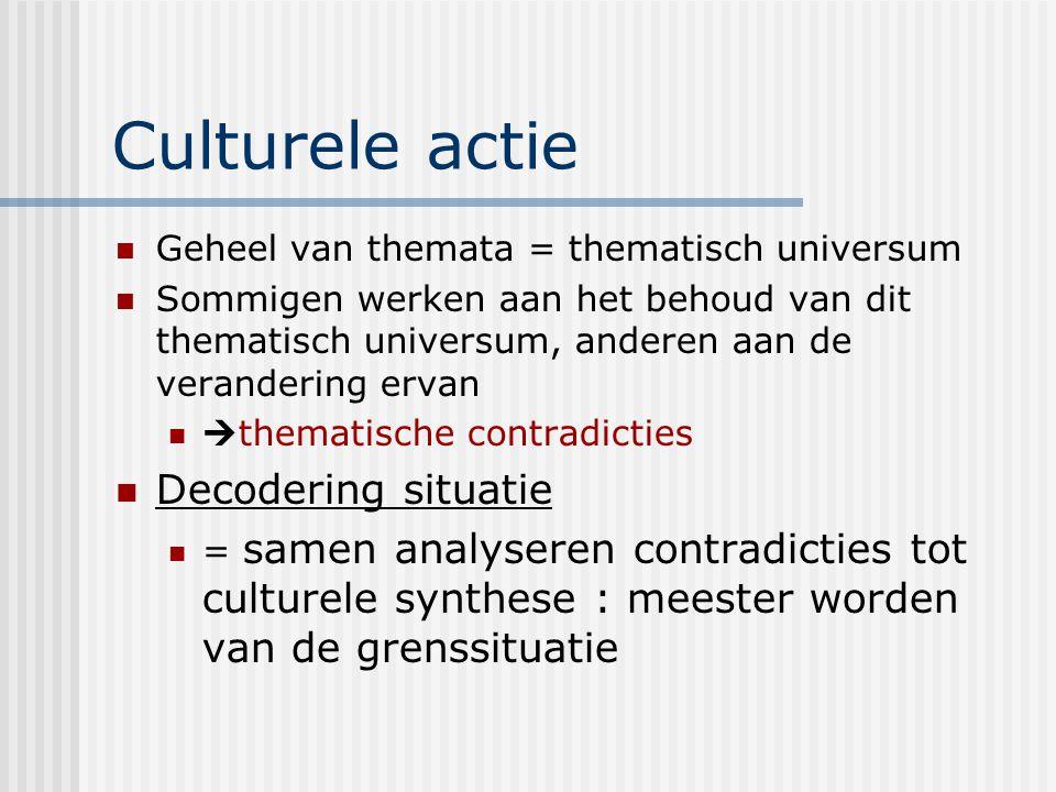 Culturele actie Decodering situatie