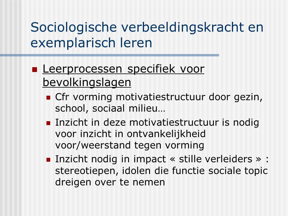 Sociologische verbeeldingskracht en exemplarisch leren