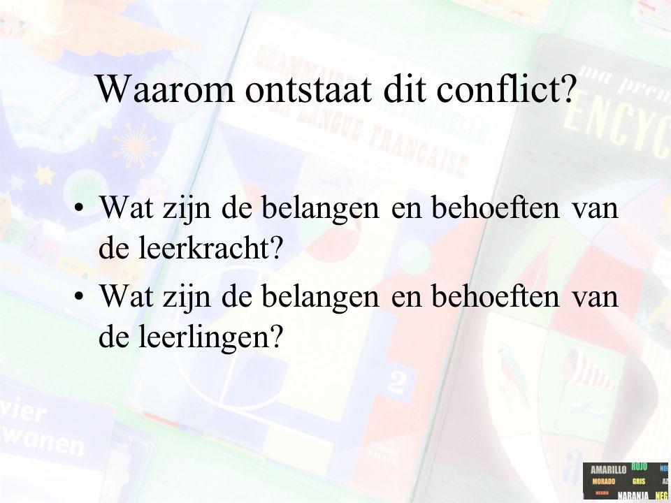 Waarom ontstaat dit conflict