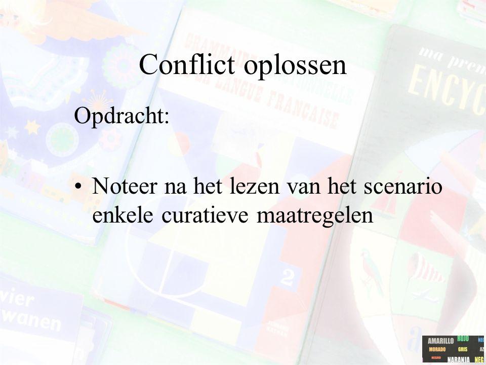 Conflict oplossen Opdracht: