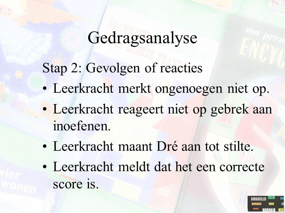 Gedragsanalyse Stap 2: Gevolgen of reacties