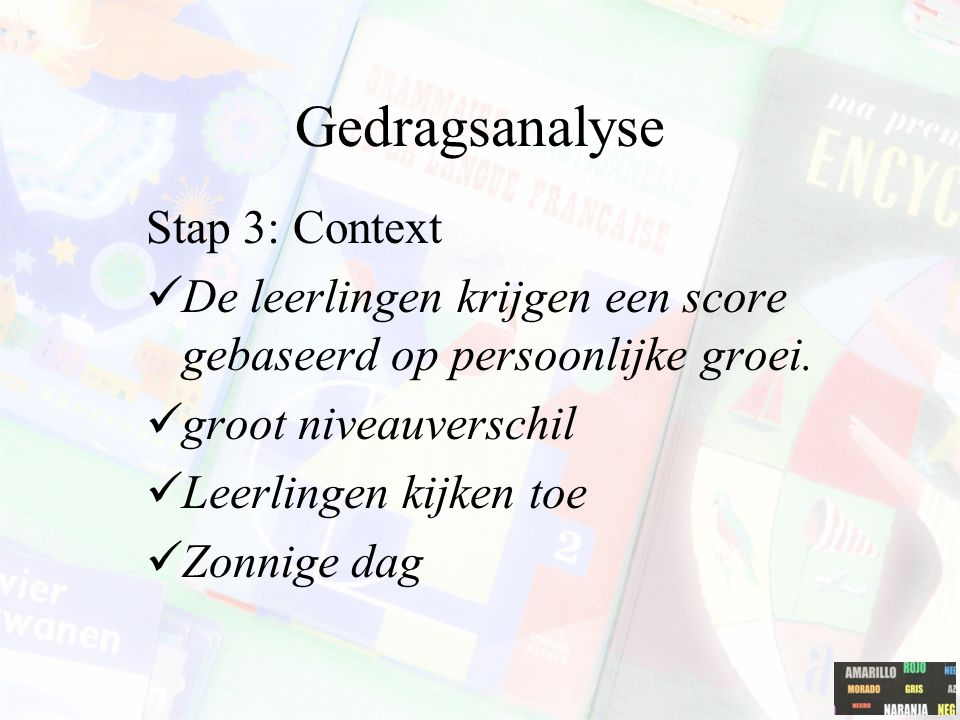Gedragsanalyse Stap 3: Context